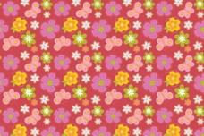 蝴蝶花朵底纹图片