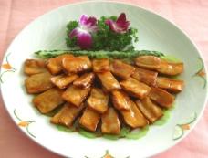 煎酿杏鲍菇图片