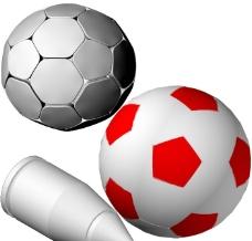 纯色足球黑白足球和子弹图片