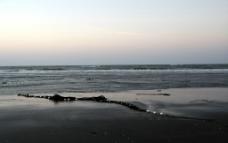 冬日的海邊图片