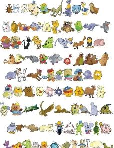 可爱矢量卡通动物合辑8图片