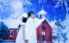 雪地浪漫图片