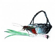水墨昆虫8