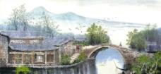 水乡古桥图片