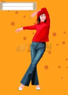插图 插画 运动  时尚 女孩