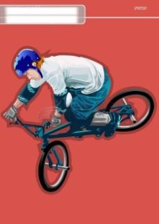 插图 插画 运动  时尚 骑车