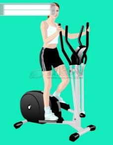 插图 插画 运动  时尚 跑步