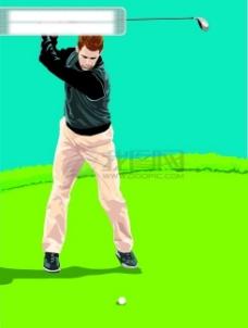 插图 插画 运动  时尚 打球