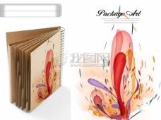 光碟书本炫彩花纹素材