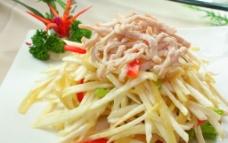 茭白榨菜炒肉丝图片