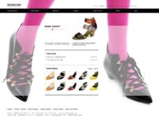 女性鞋子专卖店网页模板图片