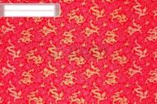 中国龙布料背景(红)