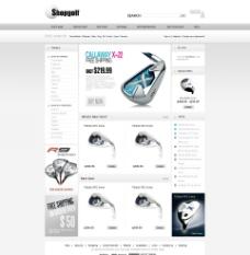 高尔夫 网页 设计 首页 模版 golf图片