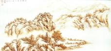 烙画 锦绣山河图片