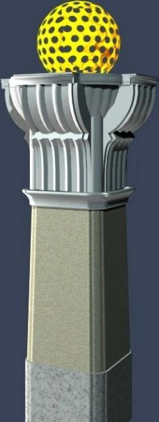 模型 建筑 MAX 景观柱廊图片