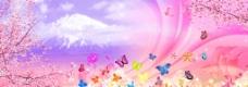 蝴蝶恋背景图片