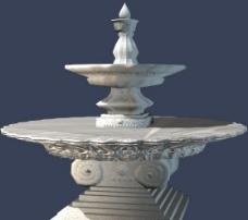 3D MAX 模型 水池喷泉图片