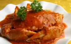 辣椒炒螃蟹 上海菜 螃蟹 美食图片