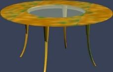 max 3D 模型 桌椅凳子图片