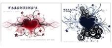 2套心形和情人节笔刷图片