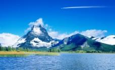 山景湖泊图片