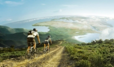 骑单车图片