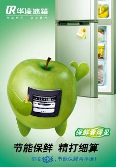 华凌苹果 节能保鲜 冰箱图片