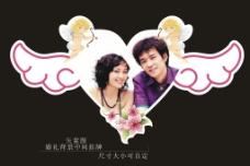 矢量婚庆婚礼背景场中挂牌图片