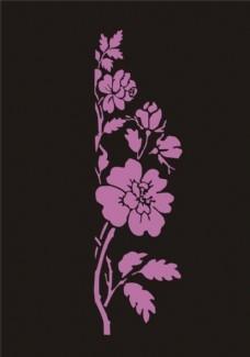 蔷薇花矢量图