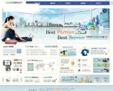 韩国商务网页模板系列图片