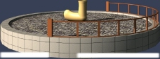 max 3D 模型 爬绳筒图片