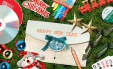 韩国风新年的祝福图片