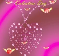 水晶爱心项链图片