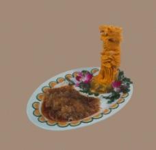 食物雕塑 狮图片