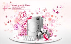 电子产品花纹2图片