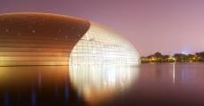国家大剧院夜景图片