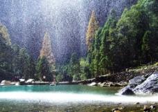 山水 雁荡山瀑布图片