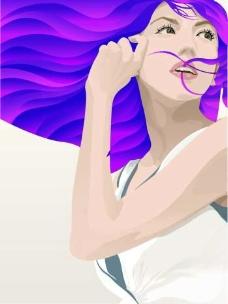 插画 时尚 女性 美女