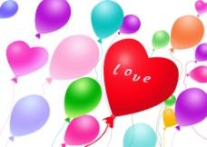 七色气球图片