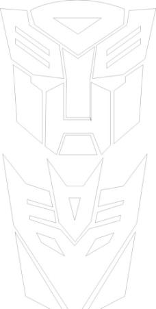 变形金刚 logo矢量图图片
