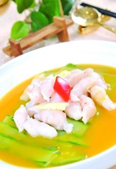 青瓜煮鱼滑图片
