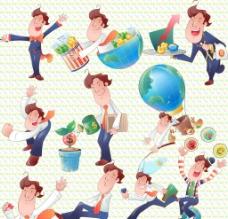 卡通可爱商业男性图片