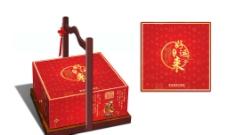 木提手礼盒(展开图)图片
