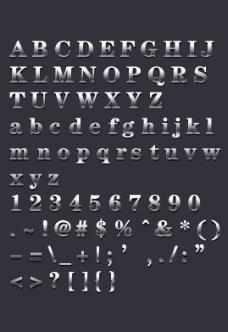 金属字母数字 (原创)图片