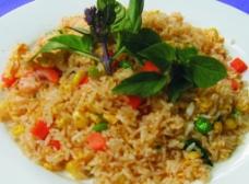 泰国虾头油炒饭图片