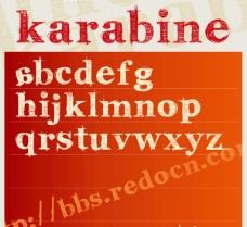 karabinE英文字体