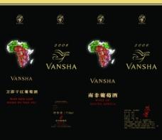 万莎干红葡萄酒外包装图片