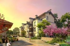 室外建筑表现 住宅图片