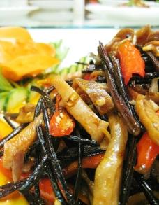 干蕨炒肚丝图片