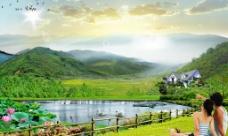 美丽的家乡 山水风景图片